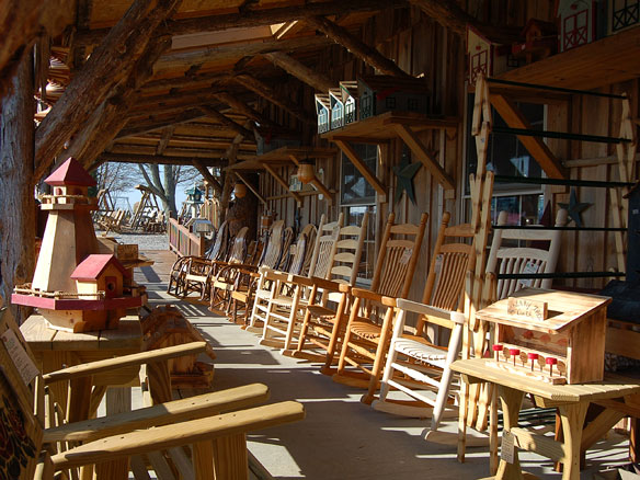 Amish-made outdoor furniture - solid wood rockers